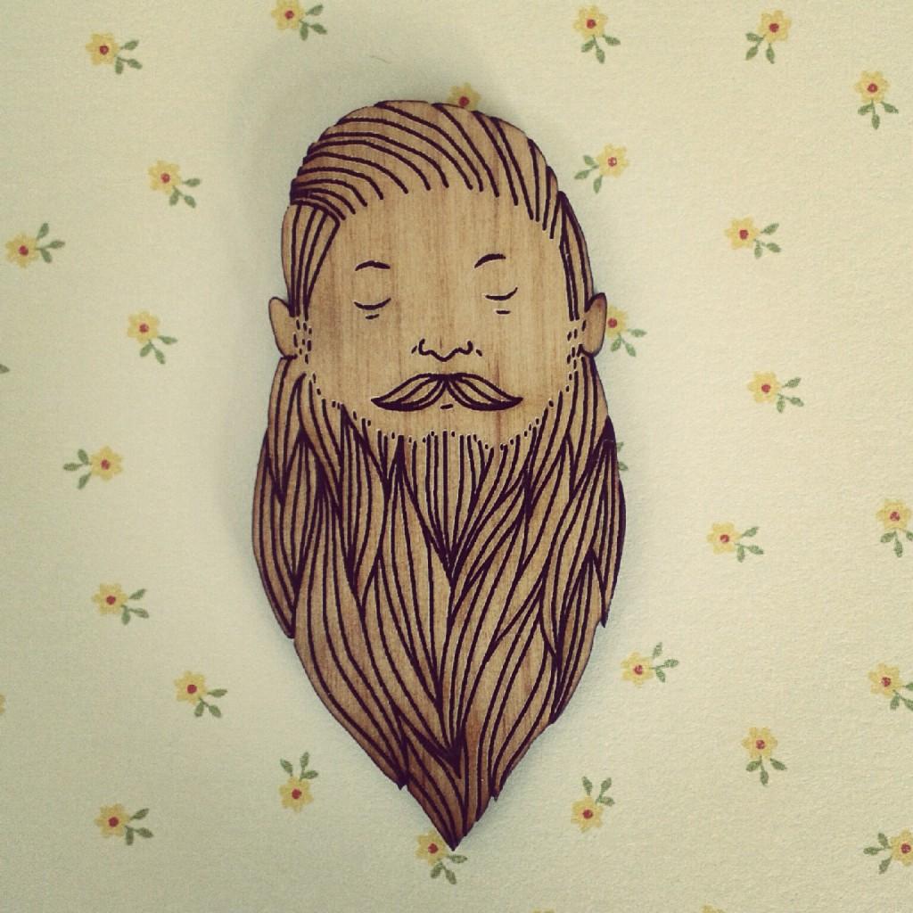 Beardy Manfriend brooch