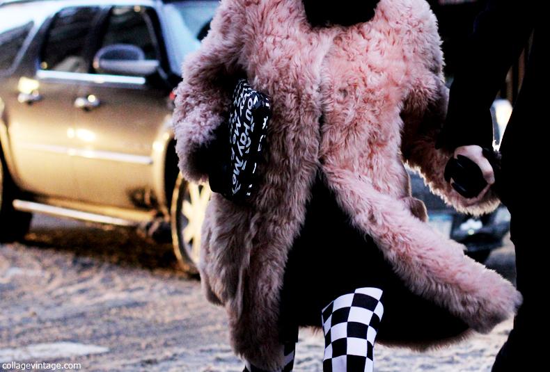 New_York_Fashion_Week_Fall_2013-Say_Cheese-Collage_Vintage-pink_Fur_Coat-Black_White-