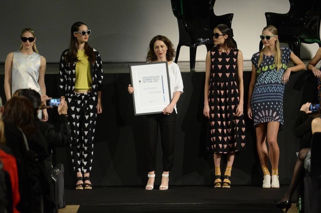 Lisa Gorman being inducted into the Fashion Hall of Fame