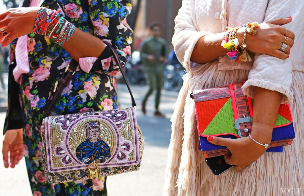 On left Dolce & Gabbana bag
