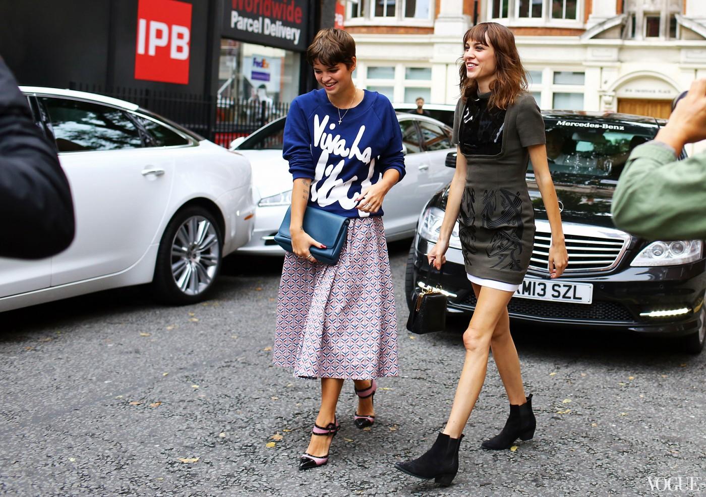 London Fashion Week Street Style Spring 2014