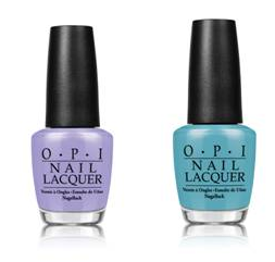 OPI's You're Such A Budapest - Pale Violet and OPI's Can't Find My Czechbook - Pale Blue