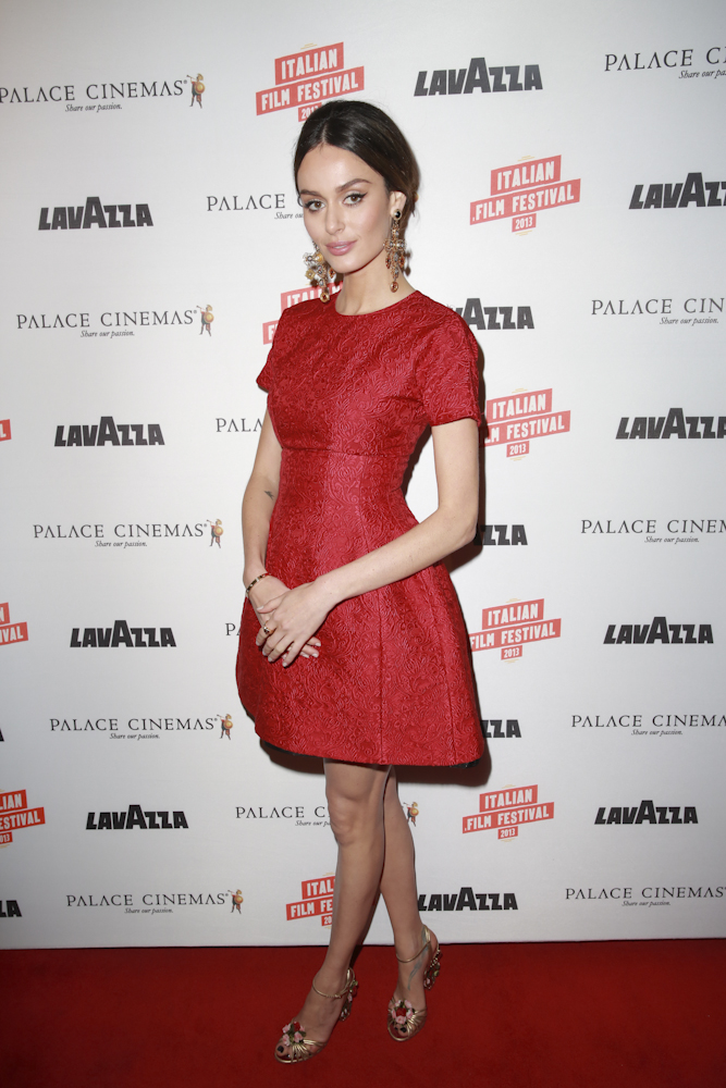 Supermodel Nicole Trunfio wearing Dolce and Gabbana
