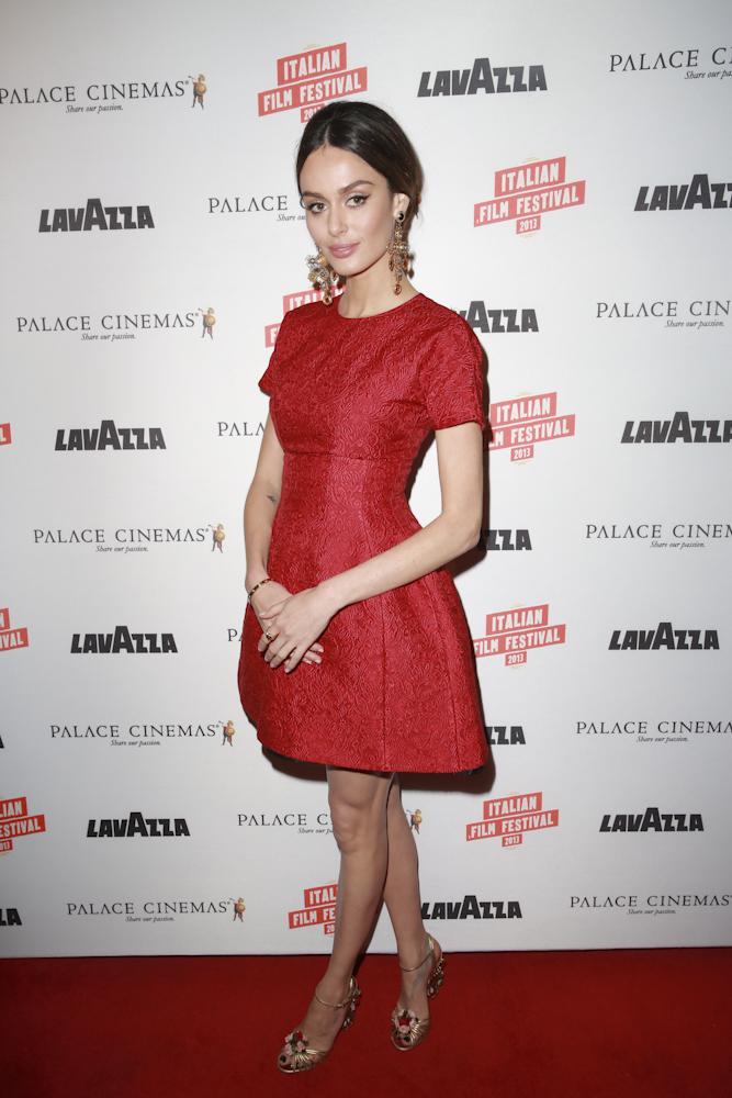 Supermodel Nicole Trunfio wearing Dolce and Gabbana