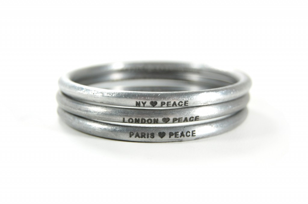 B bangle heartpeace NY LONDON PARIS