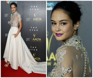 Courtney Eaton AACTA for Couturing by Ghadeer El-Khub