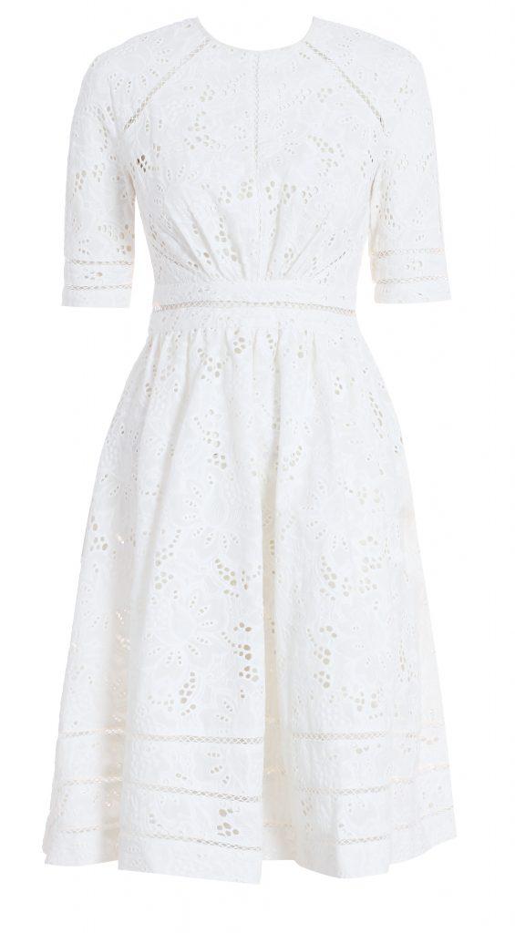 7692 Roamer Day Dress, White Broderie