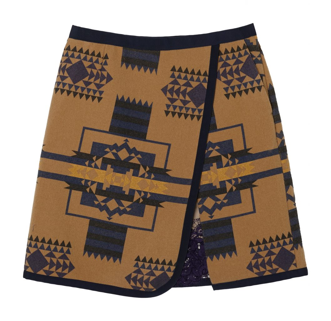 14AWLU766_0_B-V2_SACAI LUCK_PRINTED WOOL A-LINE SKIRT copy