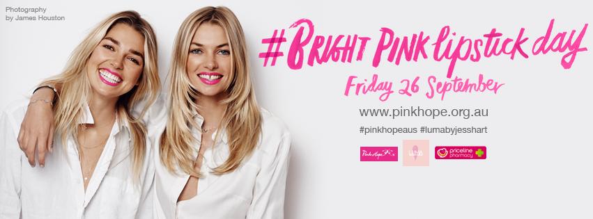 Bright Pink Lipstick Day Jess & Ash Hart
