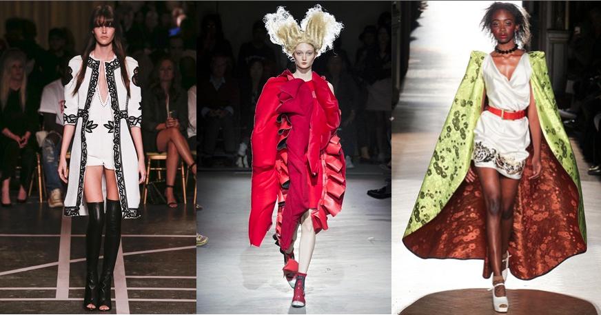 L to R: Givenchy, Commes des Garcons, Vivienne Westwood