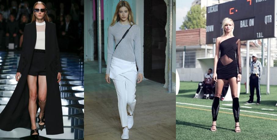 L to R: Balenciaga, Zadig & Voltaire, Alexandre Vauthier