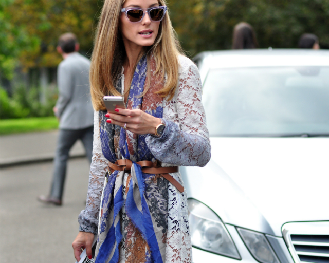 London Fashion Week SS15 street style OLIVIA PALERMO