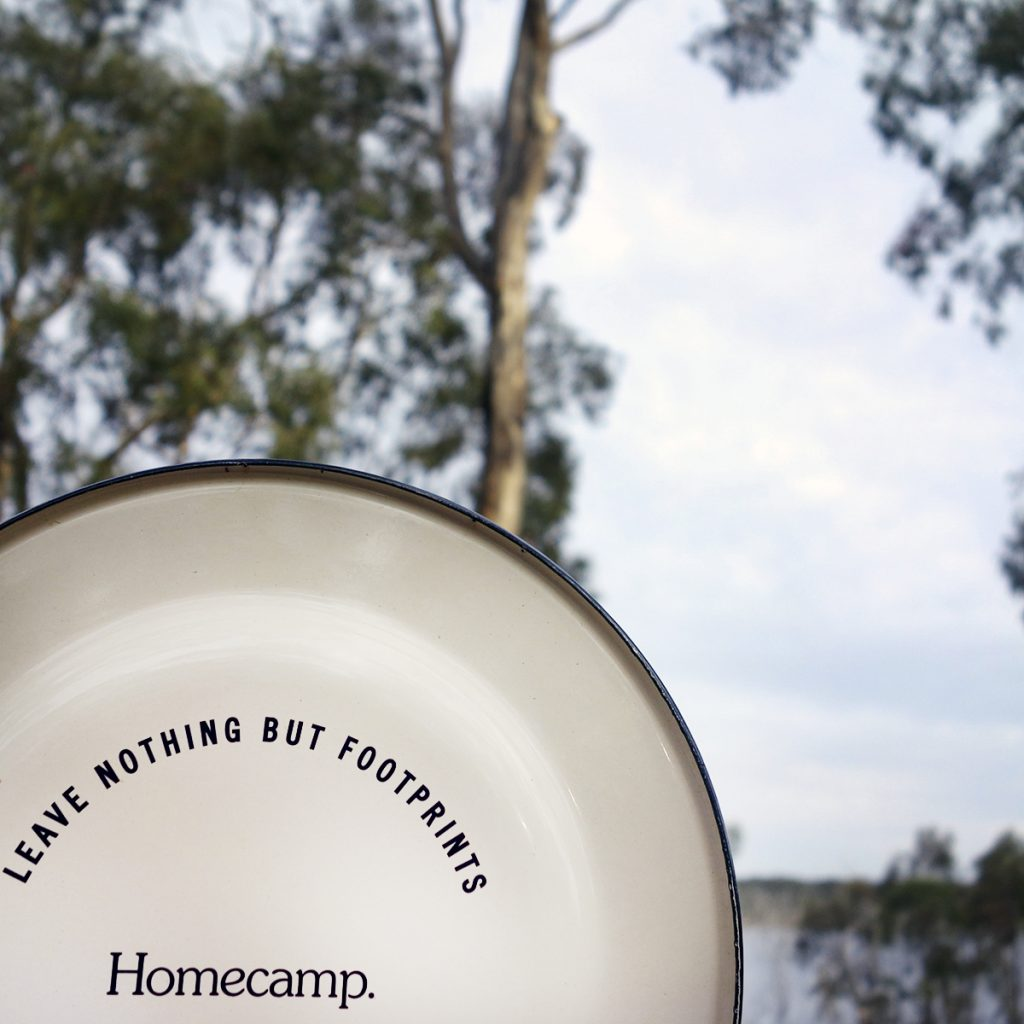 homecamp leave nothing but footprints