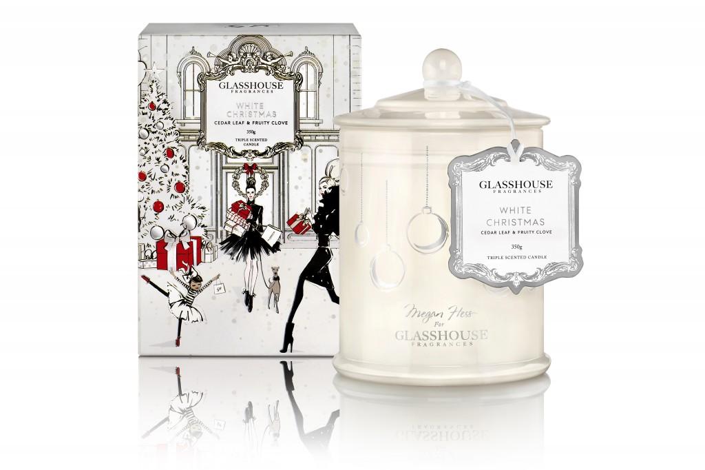 Glasshouse Fragrances 350 Candle White Christmas 2014