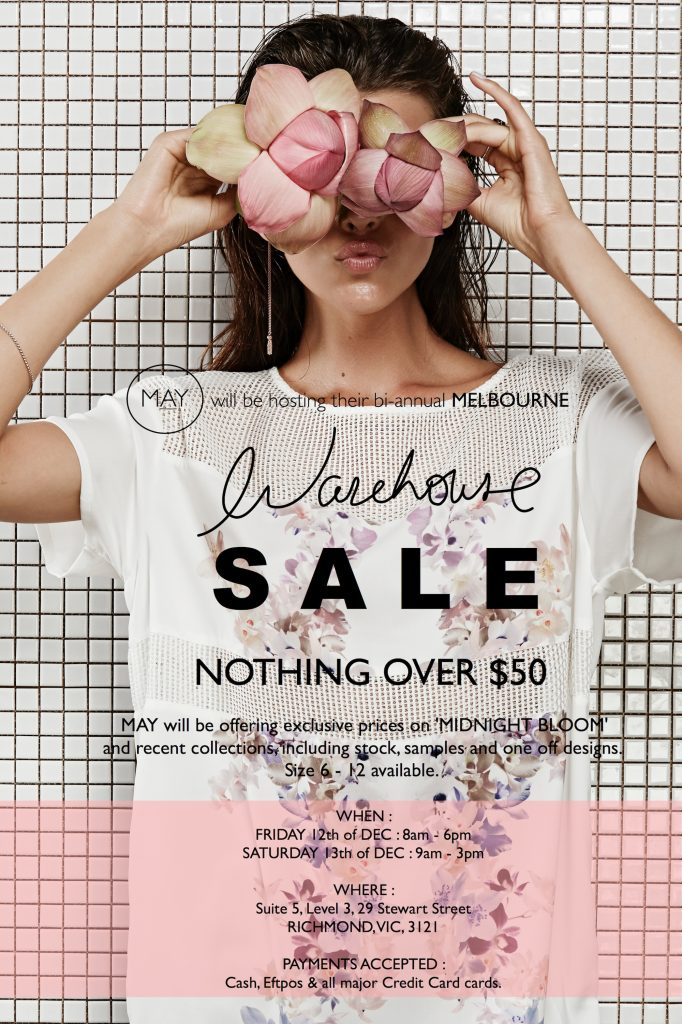 May the Label Warehouse Sale - Event Poster - High Res