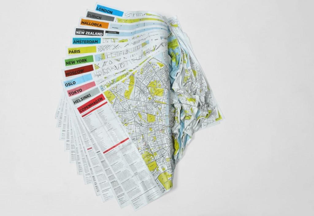 crumpled maps