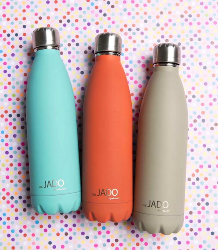 Uluru+Orange,+Benaud+Beige+and+Tiffany+Turquoise+500+ml+Jado+drink+bottles