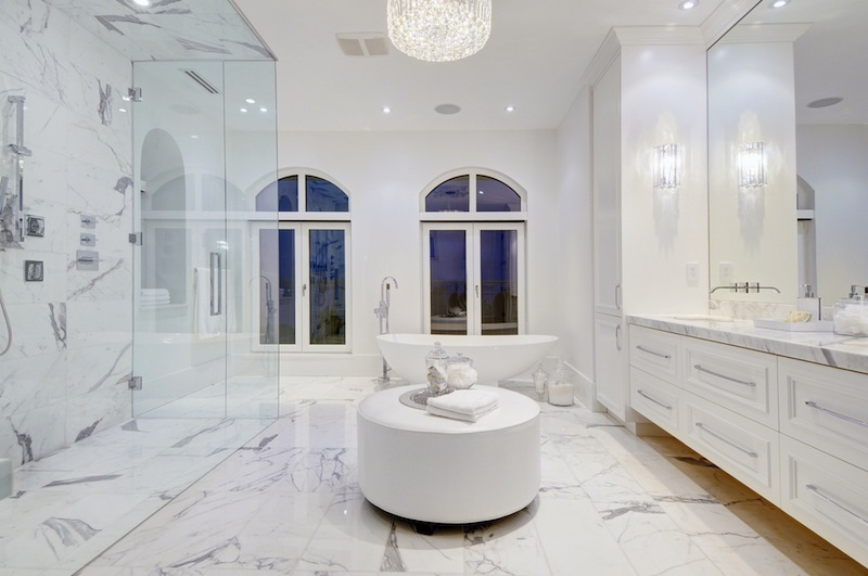Excellent Marble Bathroom Interior Design Ideas Covered Shower