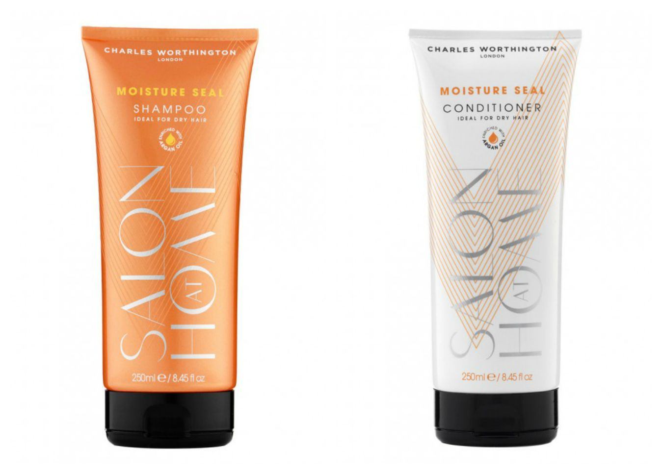 Charles Worthington Salon At Home Shampoo & Condition, available at Priceline Pharmacy.
