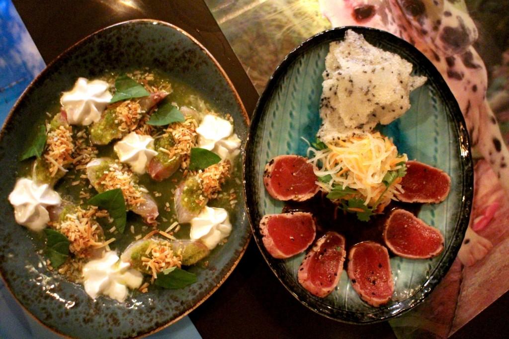 (L) Kingfish Sashimi (R) Tuna Tataki