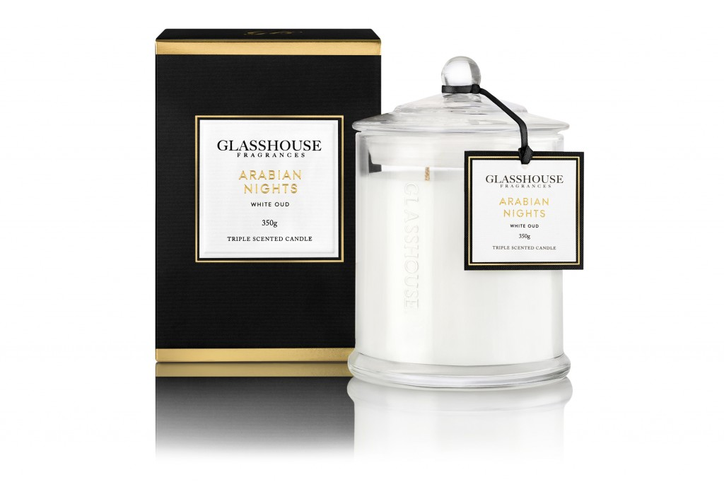 Glasshouse Fragrances 350g Candle Arabian Nights_$42.95
