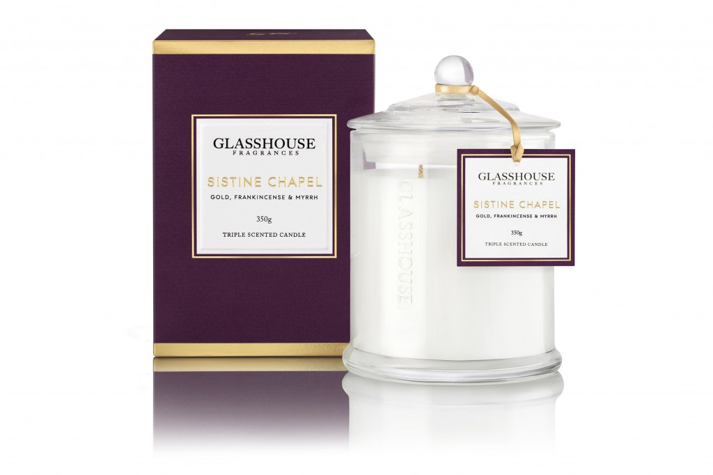 Glasshouse Fragrances 350g Candle Sistine Chapel_$42.95