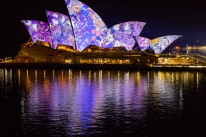 Vivid Sydney 2016, Opera House, Lighting The Sails 'Songlines.