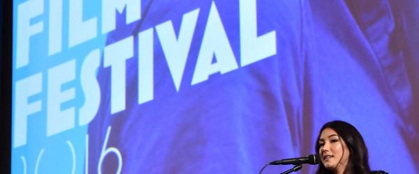 Natasha Liu Bordizzo opening the Lavazza Italian Film Festival