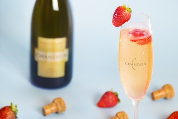 Pink & Gold Chandon Cocktail