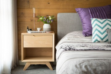 Erika Bedside Table with Addison Table Lamp