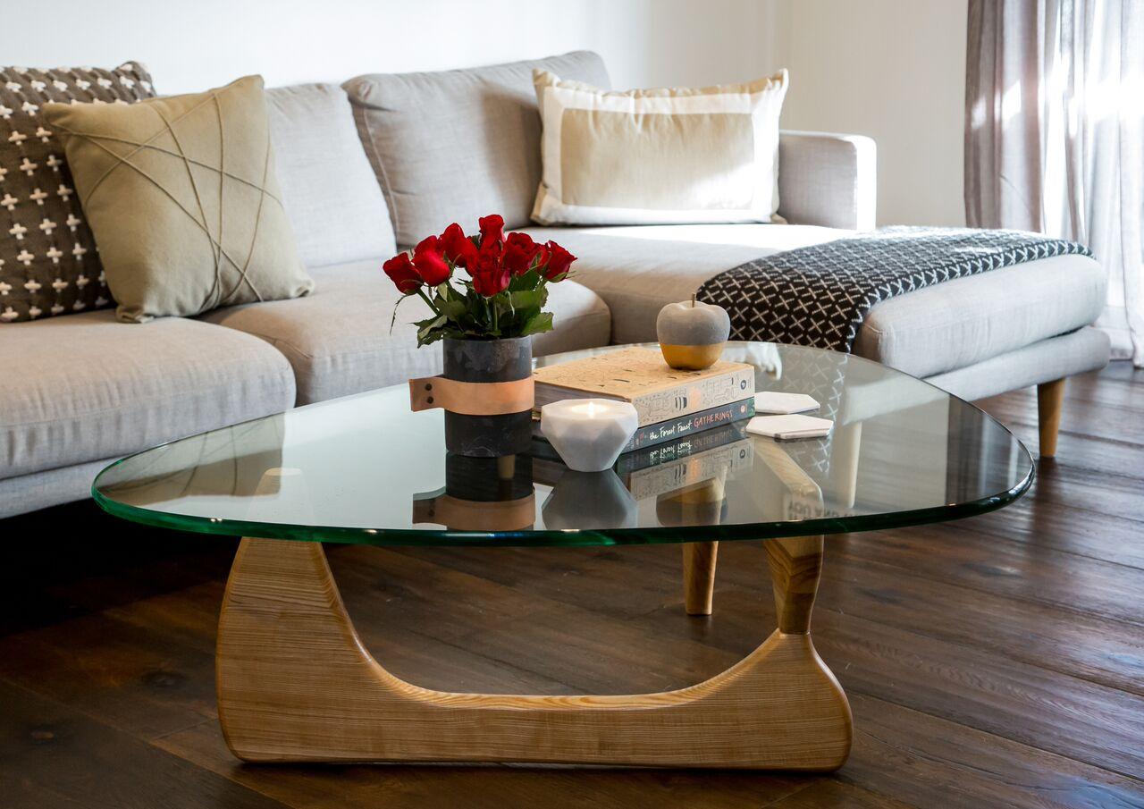 Noguchi Coffee Table Replica In Natural Couturing Com